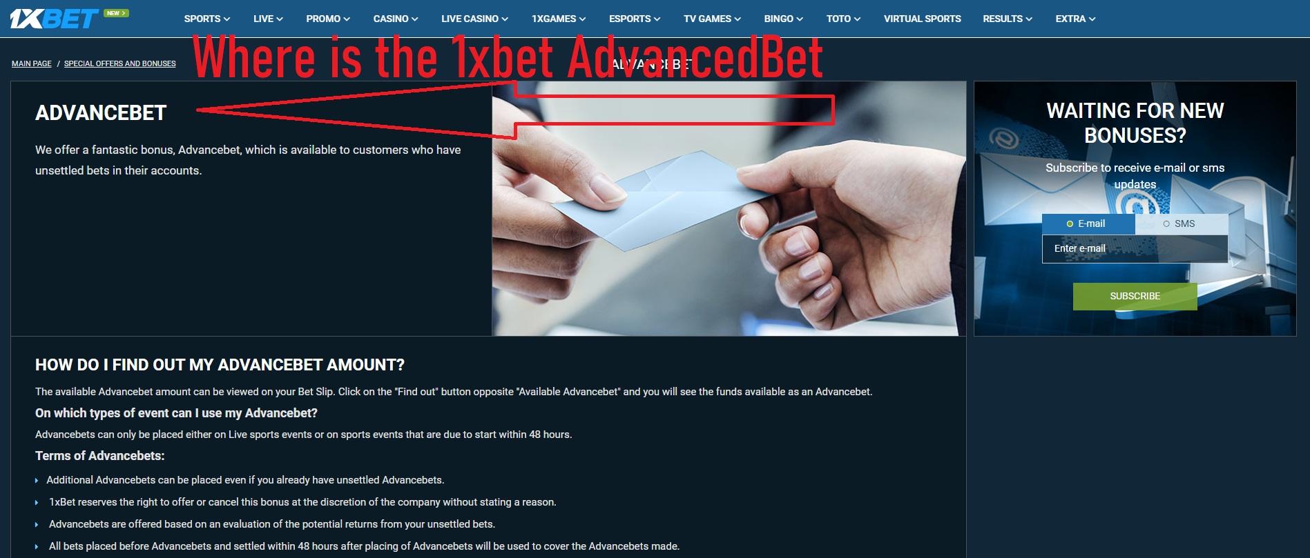 Où est le AdvancedBet