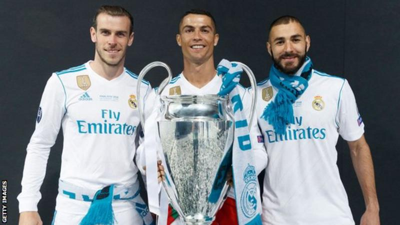 Bale, Benzema et Cristiano